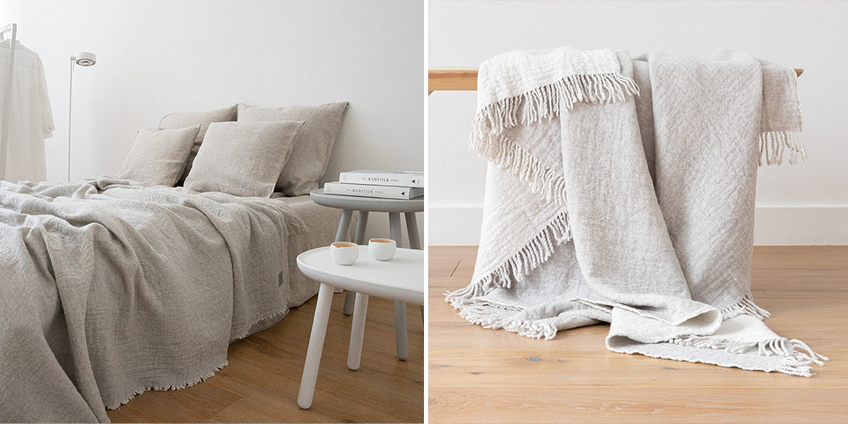 minimalist colors wool throw