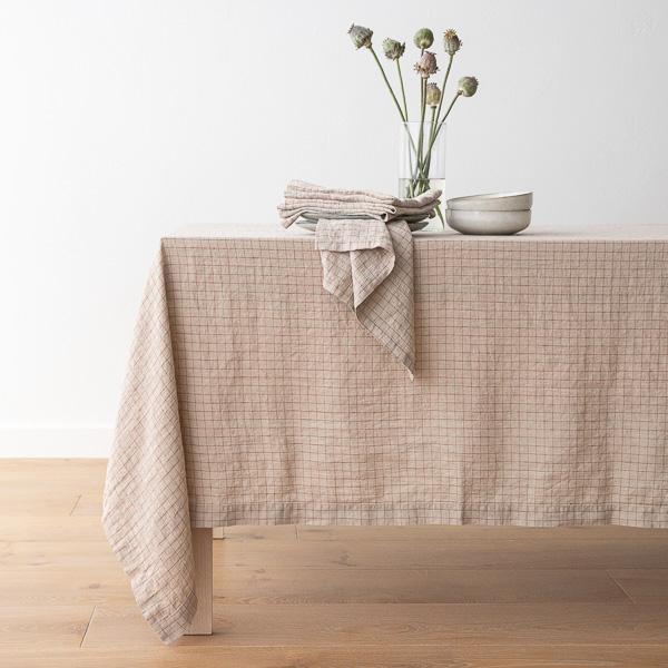 CheckWashed_Tablecloth_Napkin_Natural-Brick_600x600